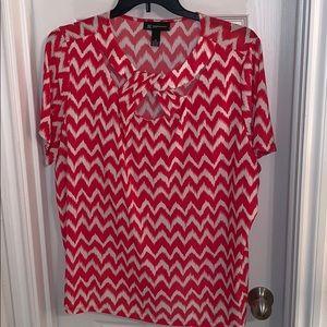 INC shirt sleeve coral shirt